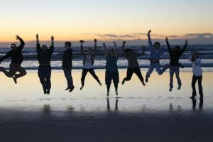 Our students at the Beach in San Diego